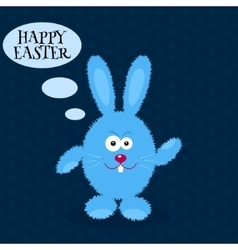 Cartoon rabbit Greeting card with Easter rabbit vector image vector image