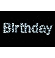 Diamond word birthday vector image