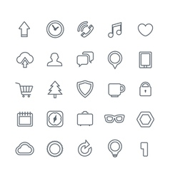 Different web icons collection isolated on white vector image