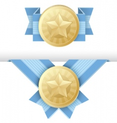 gold medal award certificate vector image vector image