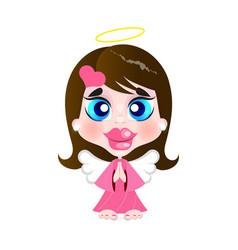 Little girl angel vector