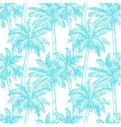 seamless pattern with coconut palm trees vector image vector image