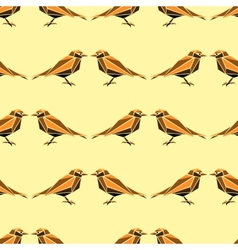Seamless pattern with geometric birds vector image vector image