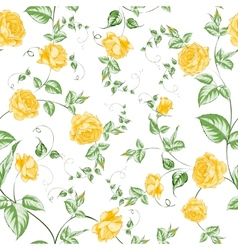 Seamless texture of orange roses for textiles vector image vector image