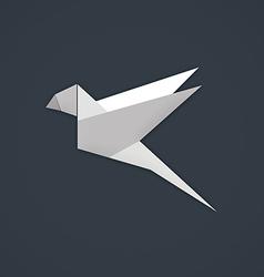 bird paper geometry business logo vector image vector image