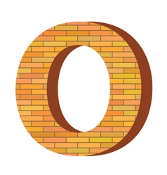brick letter O vector image vector image