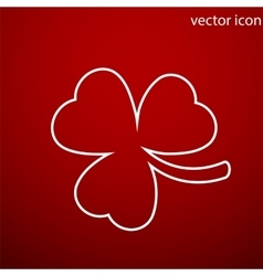 Clover icon and jpg Flat style object Art vector image vector image