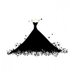 dress black vector image