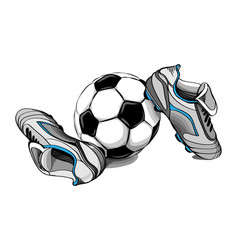 football boots ball vector image