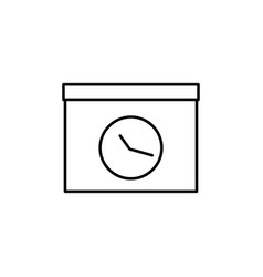 meating deadline icon vector image vector image