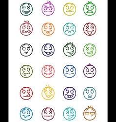 24 smiles icons set 4 vector