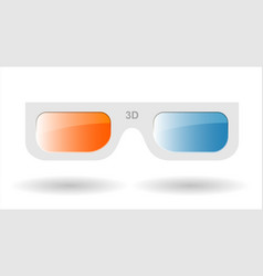 3d glasses from cardboard vector