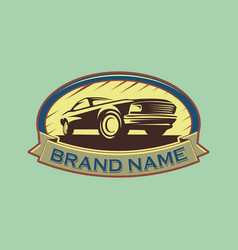 A template classic or vintage or retro car vector