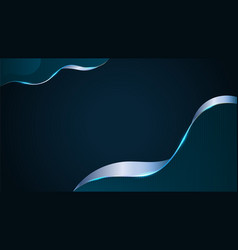 abstract background dark blue technology style vector image