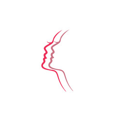 abstract beauty woman logo icon vector image