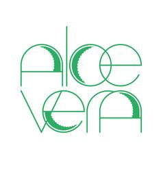 Aloe vera template vector