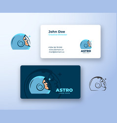 astro abstract logo and business card vector image