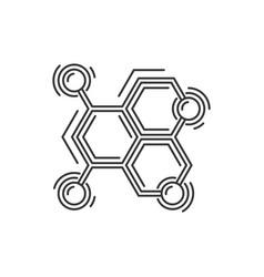 atom or molecule structure icon science logo vector image