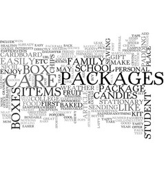 back to school care packages text word cloud vector image