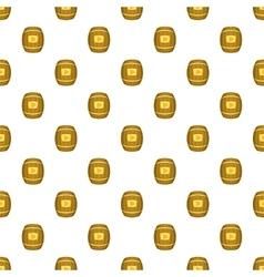 Barrel of honey pattern cartoon style vector image