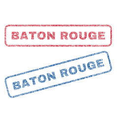 Baton rouge textile stamps vector