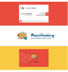 beautiful database briefcase logo and business vector image