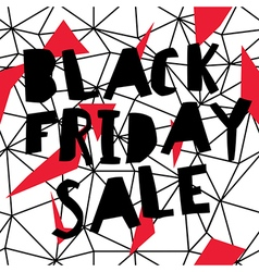 Big sale black friday sale poster low poly vector