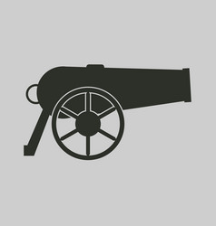 Cannon icon vector
