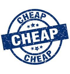 Cheap blue round grunge stamp vector