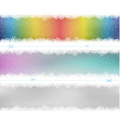 christmas snow pattern color template vector image