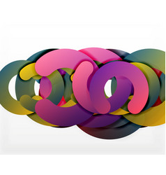 Circle geometric abstract background colorful vector