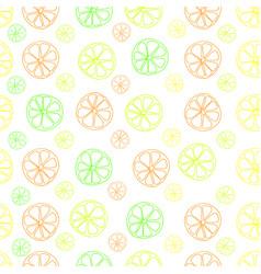 citrus lemon lime seamless pattern on white vector image