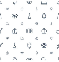 Classic icons pattern seamless white background vector