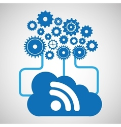 cloud network wifi technology connection design vector image