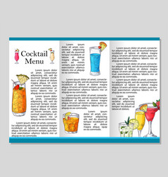 cocktail discount voucher for cafe or restaurant vector image