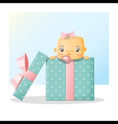Cute bainside gift box background 2 vector