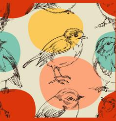 cute birds seamless pattern vector image