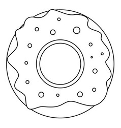 donut icon outline style vector image