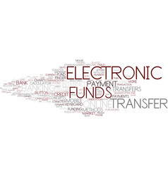 Electronic funds word cloud concept vector