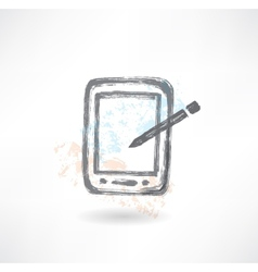 electronic organiser grunge icon vector image