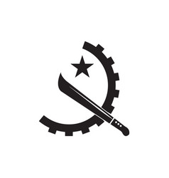 Emblem angolan state is isolated vector