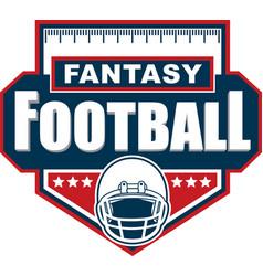 fantasy football logo design vector image