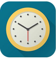 Flat icon toy analog clock vector