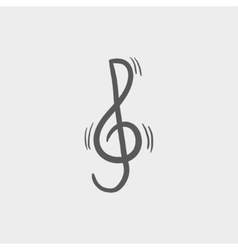 G-clef sketch icon vector image