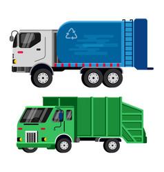 Garbage truck trash vehicle transportation vector