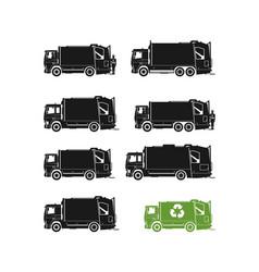 Garbage truck vector