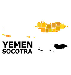 Gold square pattern map socotra archipelago vector