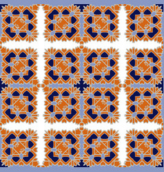 gorgeous seamless pattern azulejo vector image