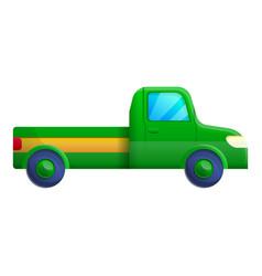 Green pickup icon cartoon style vector