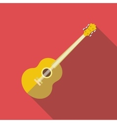 Guitar icon flat style vector